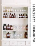 shelves with bottles of drugs... | Shutterstock . vector #1119578954