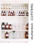 vintage stylish glass bottles... | Shutterstock . vector #1119578981