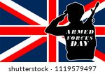 armed forces day.uk flag and... | Shutterstock .eps vector #1119579497