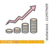 growth of money. editable...   Shutterstock .eps vector #1119579659