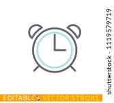 alarm clock icon. editable...   Shutterstock .eps vector #1119579719