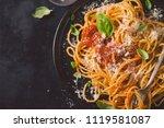 tasty appetizing classic... | Shutterstock . vector #1119581087