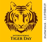 international tiger day. tiger... | Shutterstock .eps vector #1119588419