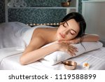 relaxed beautiful young woman... | Shutterstock . vector #1119588899