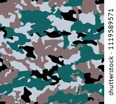 fashionable camouflage pattern  ... | Shutterstock .eps vector #1119589571