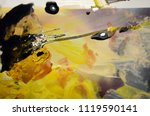 multicolored abstract painting. ... | Shutterstock . vector #1119590141