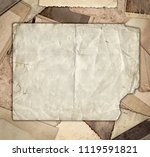 vintage photo on heap of old...   Shutterstock . vector #1119591821