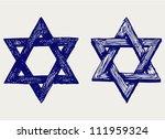 Judaic Religion. Doodle Style