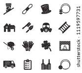 chimney sweeper icons. black... | Shutterstock .eps vector #1119597731