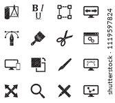 design icons. black scribble...