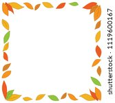 autumn leaves. vector... | Shutterstock .eps vector #1119600167