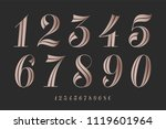 numbers font. classical elegant ... | Shutterstock .eps vector #1119601964
