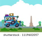 philippine car along a park.... | Shutterstock .eps vector #1119602057
