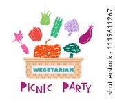 summer picnic concept  for web ...   Shutterstock .eps vector #1119611267