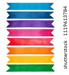 set of blank colorful ribbons.... | Shutterstock . vector #1119613784