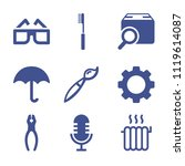 set of 9 tool filled icons such ... | Shutterstock .eps vector #1119614087