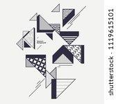 abstract modern geometric... | Shutterstock .eps vector #1119615101
