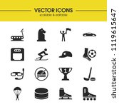 sports icons set with chess...