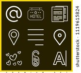 set of 9 signs outline icons...   Shutterstock .eps vector #1119615824