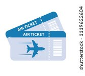 air ticket vector icon isolated ... | Shutterstock .eps vector #1119622604