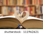Book Page In Heart Shape With...