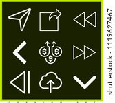 set of 9 arrows outline icons... | Shutterstock .eps vector #1119627467