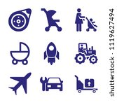 set of 9 transport filled icons ... | Shutterstock .eps vector #1119627494