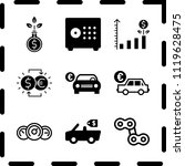 simple 9 icon set of finance... | Shutterstock .eps vector #1119628475