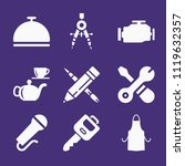 set of 9 tools filled icons... | Shutterstock .eps vector #1119632357