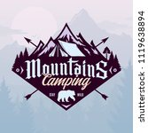 vector mountains camping and... | Shutterstock .eps vector #1119638894