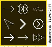 set of 9 arrows outline icons... | Shutterstock .eps vector #1119642494