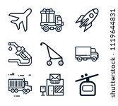 set of 9 transport outline... | Shutterstock .eps vector #1119644831