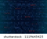 dna sequencing by the formula... | Shutterstock .eps vector #1119645425