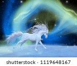 Mystic Unicorn 3d Illustration...