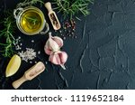 herbs and spices selection  ... | Shutterstock . vector #1119652184