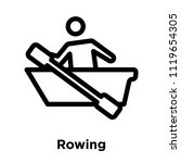 rowing icon vector isolated on... | Shutterstock .eps vector #1119654305