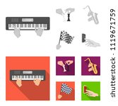 playing on an electric musical... | Shutterstock .eps vector #1119671759