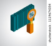 bar code icon vector isolated... | Shutterstock .eps vector #1119674354