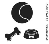 pet dog black icons in set... | Shutterstock .eps vector #1119674549