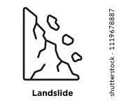 Landslide Icon Vector Isolated...