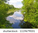 very beautiful forest lake | Shutterstock . vector #1119679031