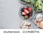 variety of prebiotic foods  raw ... | Shutterstock . vector #1119680741