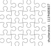 puzzle pattern background.... | Shutterstock .eps vector #1119680837