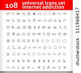 universal icons set. second ...   Shutterstock .eps vector #111968417