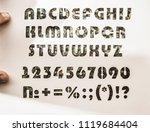 carton alphabet of a set of abc ... | Shutterstock . vector #1119684404