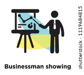 businessman showing a project... | Shutterstock .eps vector #1119684815