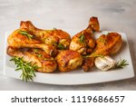 grilled spicy chicken legs... | Shutterstock . vector #1119686657