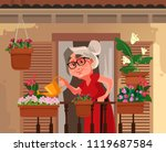 happy smiling granny grandma...