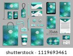corporate identity template set.... | Shutterstock .eps vector #1119693461