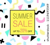 sale banner for online shopping ... | Shutterstock .eps vector #1119695549